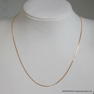 Chaine Or 18k, 750 Maille Gourmette 40cm- 1.95grs - Bijoux occasion