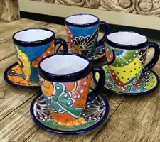 Talavera Coffee or Tea Cup Colorful Brightly Hand-Painted Pottery Mug Ceramic
