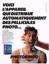 PUBLICITE ADVERTISING 015  1990  PHOTOBINGO   distributeur de pellicules photo