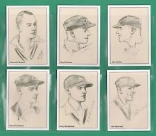 JF SPORTING COLLECTIBLES - SET OF XL 15 AUSTRALIAN 1930 CRICKETERS CARDS - 1999