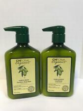 CHI OLIVE ORGANICS HAIR & BODY SHAMPOO & CONDITIONER - 11.5oz DUO