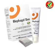 Thea Blephagel Duo 100 Pads & Gel 30gr Daily Ygiene of Eyelids and Eyelashes.