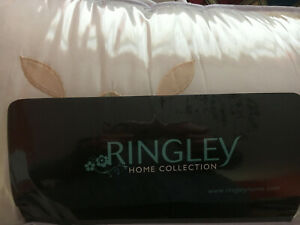RINGLEY HOME COLLECTION WILLOW PUF THROW NATURAL ROSE RRP £69.95