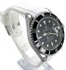 Rubber Dive Strap For Rolex Submariner White 20mm Curved End Band USA Seller