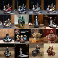 Ceramic Backflow Mountain Waterfall Smoke Incense Burner Censer Holder Decor Use