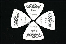 10pcs Alice Triangle Stainless Steel Electric Guitar Bass Guitar Picks Plectrums
