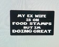 Vinyl Window Decals For Car Truck Laptop Toolbox Funny Ex Wife Bumper Stickers
