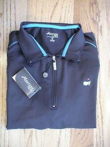 Masters Golf Tech Augusta National 1/4 Zip Black Pullover Jacket Men's XL PGA