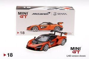 Mini GT 1:64 McLaren Senna (Orange) Diecast Model Car Limited MGT00018