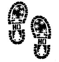 Christmas Stencil Santa Claus FootprintsBoot Prints Footsteps Christmas Eve A4