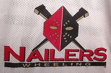 WHEELING NAILERS logo autograph ECHL hockey jersey youth lrg
