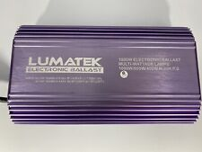Lumatek 1000,600,400 watt ballast. Multi-wattage Lamps