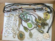 Vintage Jewelry Lot Necklace Crystal Pendant & more (640B)