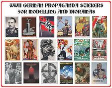 WORLD WAR II GERMAN PROPAGANDA INDIVIDUAL POSTERS QTY 18 MATT ADHESIVE VINYL SET
