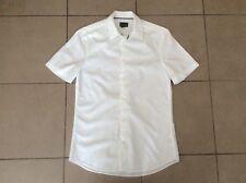 H&M     Mod Style   White Cotton Shirt      Size S