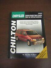 1984-1995 Chilton Caravan,Voyager,Town & Country Repair Manual DYI repair book
