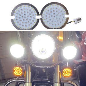 1157 LED Flat Turn Signal Inserts Light for Harley Davidson Road King Glide FLTR