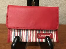 LONGABERGER RED STRIPE ID Credit Card Holder