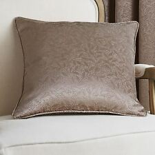 "Catherine Lansfield 18"" x 18"" Jacquard Leaf Cushion Covers Piped Edging FREE P&P"