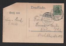 $ German 1909 Pop open P.C. ILA fair cancel Airship official #4 RARE!