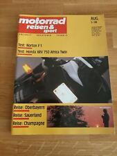 Motorrad, Reisen & Sport 08/1990 - Norton F1 - Honda XRV 750 Africa Twin