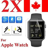 (2 Pack) Premium Screen Protector Cover for Apple Watch Series 1 2 3 4 5 6 SE