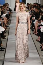 New Oscar De La Renta Resort 2012 Blossom Embroidered Organza Gown 8 $10,000