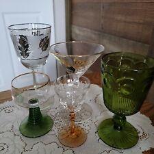 New ListingSet Of Five Vintage Retro Glasses Barware