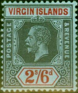 Virgin Islands 1913 2s6d Black & Red-Blue SG76 Fine Mtd Mint Stamp