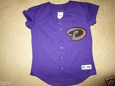 Arizona Diamondbacks Gold Purple Majestic MLB Jersey Womens XS X-Small