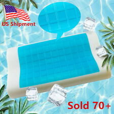 Memory Foam Cooling Pillow with Gel - Orthopedic Bed Pillow Reducing Heat