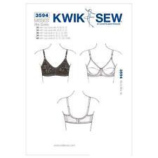 """KWIK SEW SEWING PATTERN MISSSES' BRA SIZES 32 - 40""""  CUPS AA - DDD K3594"""