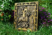 SAINT GEORGE WOOD CARVED ICON RELIGIOUS GIFT WALL HANGING ART WORK