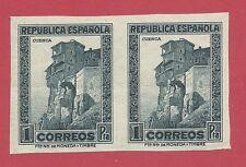 ESPAÑA 1932 EDIFIL 673s** PAREJA NUEVA CON GOMA SIN FIJASELLOS