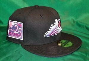 ECapCity Exclusive Blk Colorado Rockies 25th Anniversary Patch Purple UV  7 1/4