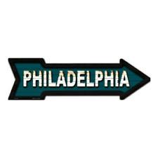 """Outdoor/Indoor Philadelphia Eagles Colors Novelty Metal Arrow Sign 5"""" x 17"""""""