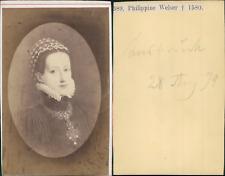 Philippine Welser Vintage albumen cdv print.D'après dessin.Philippine W