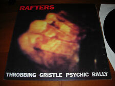 Throbbing Gristle–Rafters Lp vinyl Italian Records '82 Whitehouse Genocide Organ