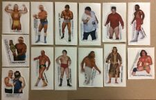 RARE VINTAGE 1985 WWF WWE WRESTLING SET OF 13 STICKERS CARD- 4 HULK HOGAN,ALBANO