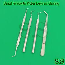 Dental Periodontal Probes Explorers Teeth Cleaning Restorative Spoon Excavators