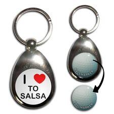 I LOVE Coeur pour Salsa-Chrome Balle de Golf Marqueur Porte-Clés Nouveau
