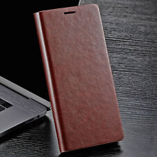 SLIM Genuine Leather Wallet Card Case Cover For Galaxy Note 10/9 S10/S9/S8 Plus