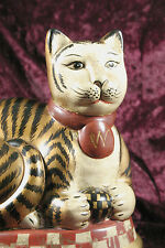 One-Of-A-Kind Artist Signed Raymond Waites Toyo Ceramic Cat Figurine / 2003