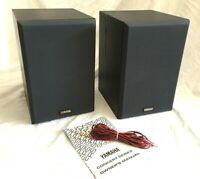 """Vintage Yamaha 12"""" Monitor Speakers NS-A525 Bookshelf Black Wood 60 Watts"""