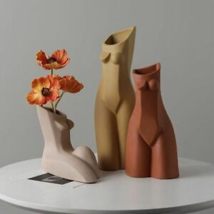 Naked Women Body Ceramic Vase Butt Tits Statues Boobs Sculpture Flowerpot Decor