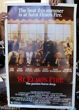 "1985 original movie poster 1 sheet ""Saint Elmo's Fire"" Demi Moore,  Rob Lowe"