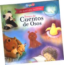 """LIBRO """"TESORO DE CUENTOS DE OSOS; CON 6 DIVERTIDAS HISTORIAS"""", EN ESPAÑOL."""