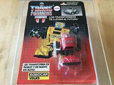 Transformers G1 1985 ROBOCAR VOLKS MOSC Argentina (antex) red bumblebee