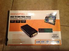 USB To DVI VGA  HDMI External Video Adapter