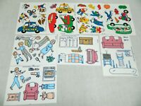 Lot Colorforms Family & Careers Kids Creative Play Sheet sets 1990 UNUSED VTG
